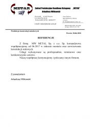 Referencje Metar-1